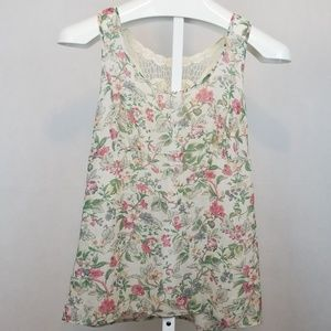 Forever 21 Embroidered Back Tank top Size S petit